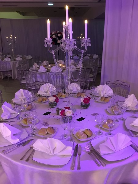 Centres de tables live events d corateur for Chandelier centre de table